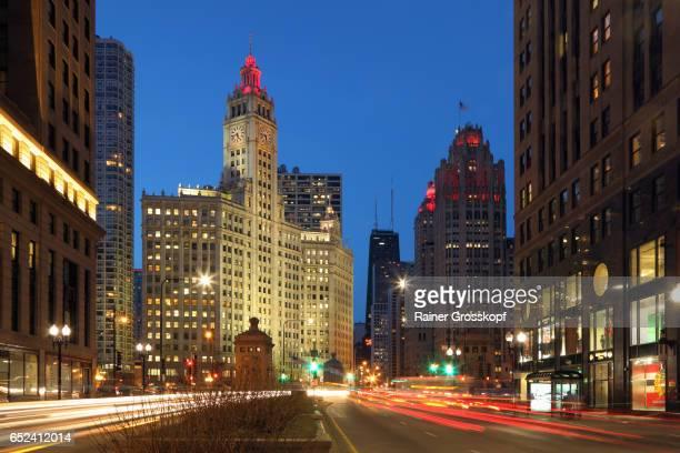 View along North Michigan Avenue