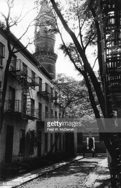 View along Patchin Place a gated culdesac in the Greenwich village neighborhood New York New York October 6 1963