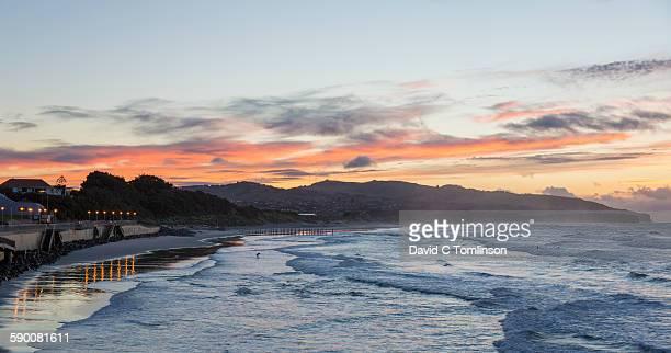 View along St Clair Beach at dawn, Dunedin