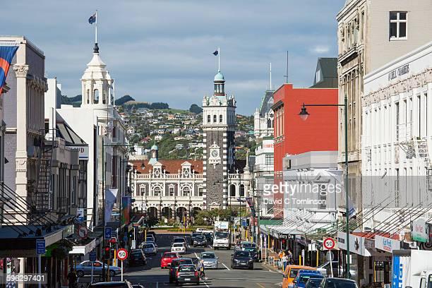 View along Stuart Street from the Octagon, Dunedin