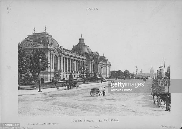 A view along the Avenue des ChampsÉlysées with the Petit Palais building built for the Universal Exhibition in 1900 to Charles Girault's designs...