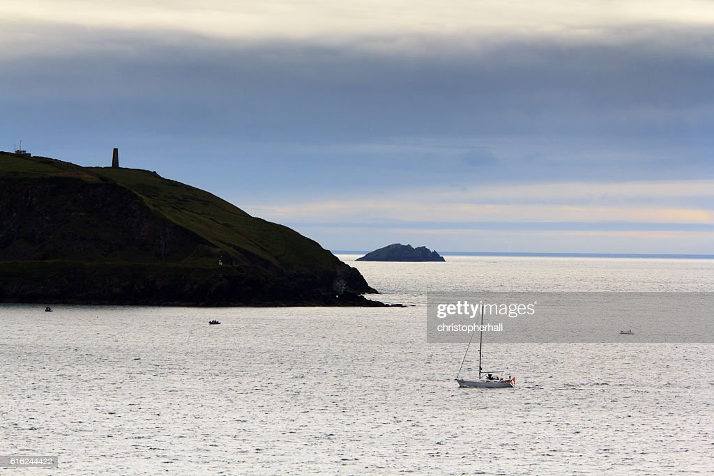 View along the coast from Rock near Padstow : Stock Photo