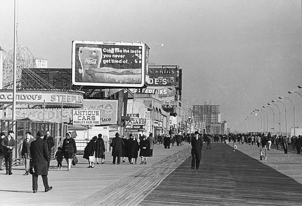 Coney Island Boardwalk, 1968