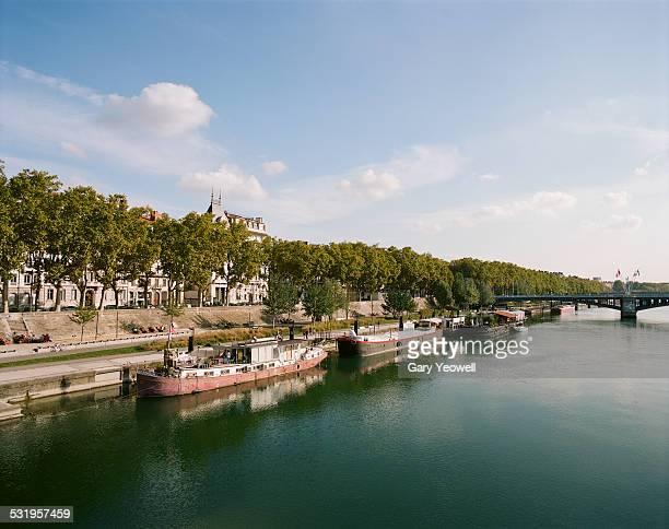 View along the Rhone in Lyon