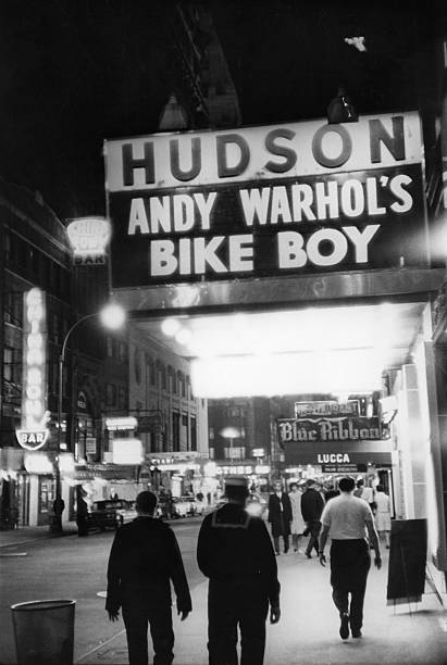 'Bike Boy' At The Hudson Theatre Wall Art