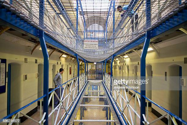 A view along wing A of Wandsworth prison This wing has the suicide netting between each floor HMP Wandsworth in South West London was built in 1851...