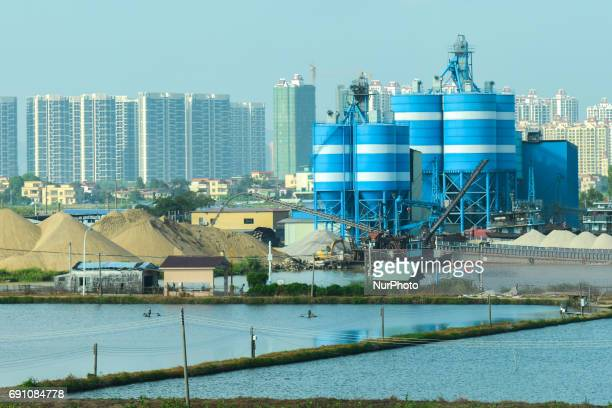 A view an industrail area next to a newly constructed apartment blocks along the road from Liling to Qingyuan On Friday September 23 2016 in Qingyuan...