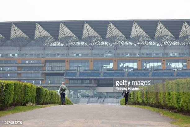 View around Ascot Racecourse on April 08, 2020 in Ascot, England. The organiser's of June's Royal Ascot meeting have said that it might be possible...