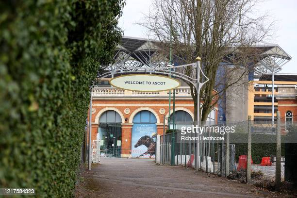 A view around Ascot Racecourse on April 08 2020 in Ascot England The organiser's of June's Royal Ascot meeting have said that it might be possible to...