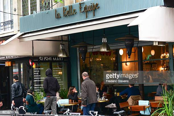 A view around the 'La Belle Equipe' restaurant on November 04 2016 in Paris FranceThe terrorist attack on 'La Belle Equipe' rue de Charonne resulted...