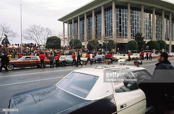A view as celebrities arrives to the 47th Academy Awards at Dorothy Chandler Pavilion in Los AngelesCalifornia