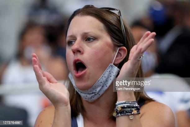 View as fans cheer as the Dallas Cowboys take on the Atlanta Falcons at AT&T Stadium on September 20, 2020 in Arlington, Texas.