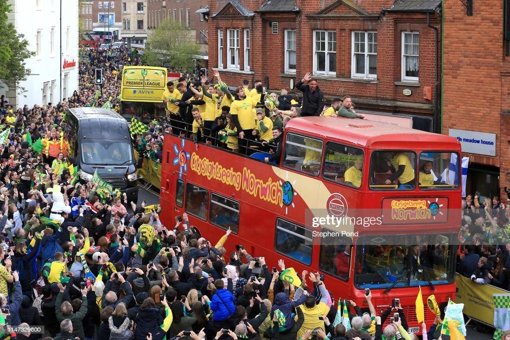 Norwich City's Championship Victory Celebrations : ニュース写真
