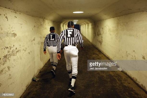 View as referees walk down the tunnel before the game between the California Golden Bears and the USC Trojans at Memorial Stadium November 10, 2007...