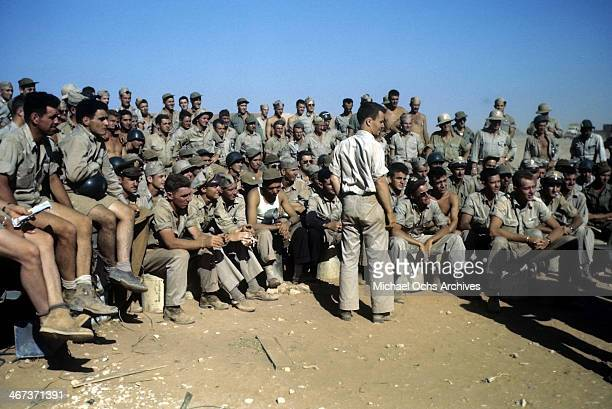 A view as the 376th Bombardment Group has a meeting at the US Air Force Base in Benghazi Libya