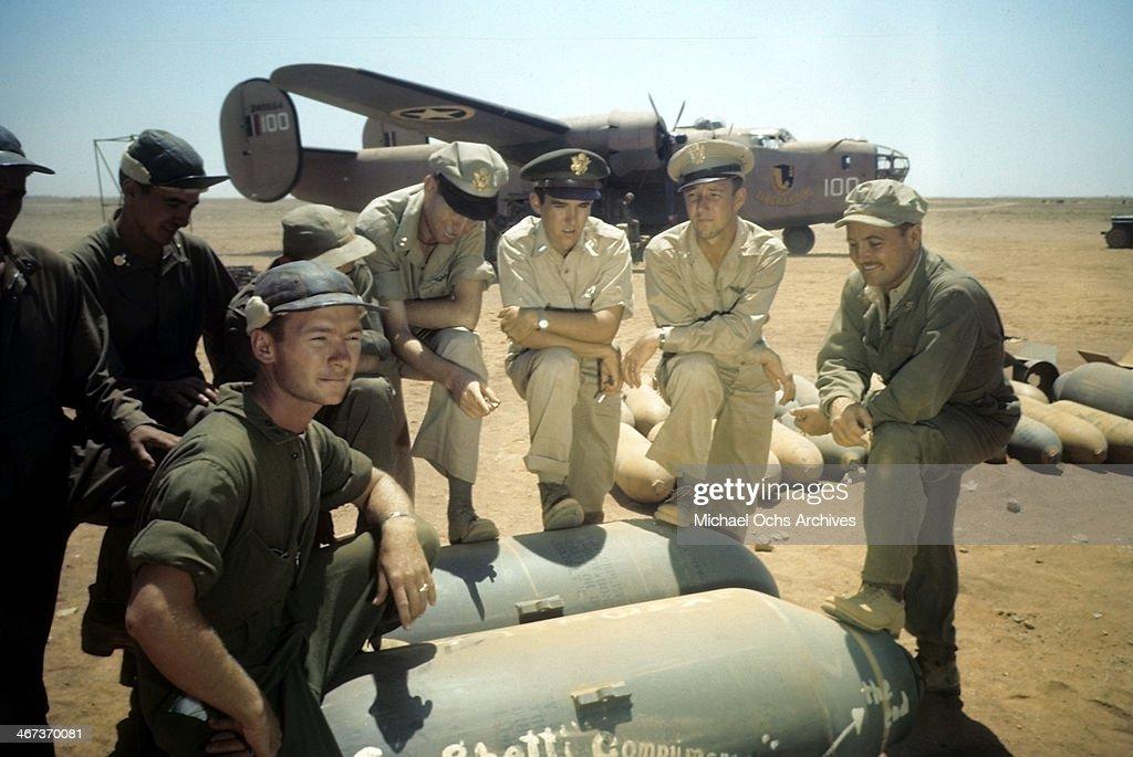 U.S AIR FORCE IN  BENGHAZI LIBYA : News Photo