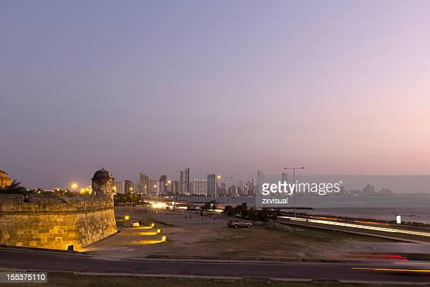 View at Dusk in Cartagena Colombia