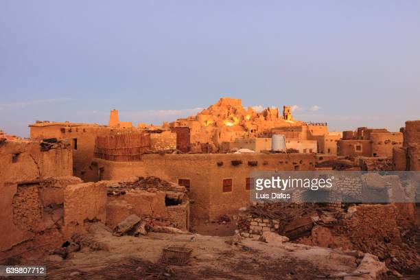 View at dusk of the fortress of Shali at Siwa oasis