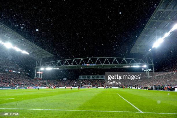 View at field during the 2018 CONCACAF Champions League Final match between Toronto FC and CD Chivas Guadalajara at BMO Field in Toronto Canada on...