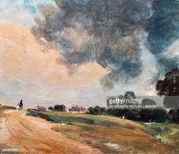 View at Hampstead, looking due East by John Constable , oil on paper. United Kingdom, 19th century. London, Victoria And Albert Museum