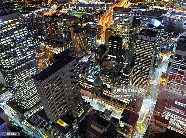 View at night of Sydney