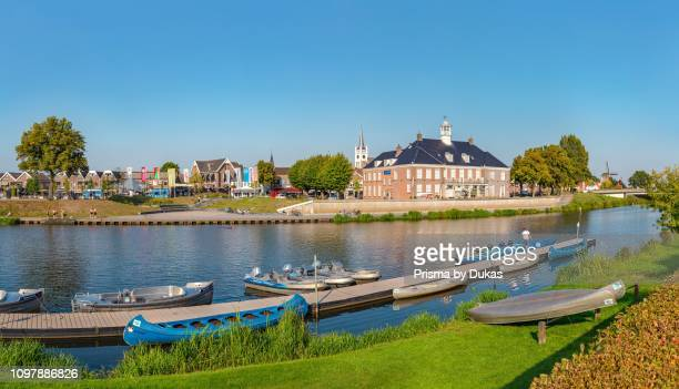 View at Ommen at the opposite bank of the river Vecht, rent canoes, Ommen, Overijssel