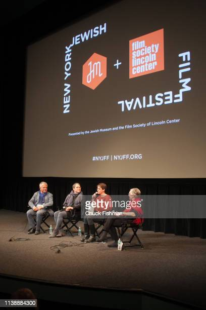 View at participants including American film director Elizabeth Rynecki in a panel discussion at the New York Jewish Film Festival 2019 in Lincoln...