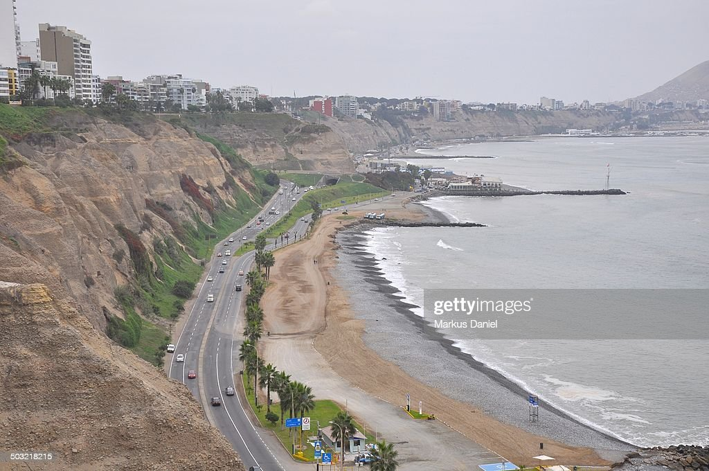View at the beach and the Circuito de Playas : Stock Photo