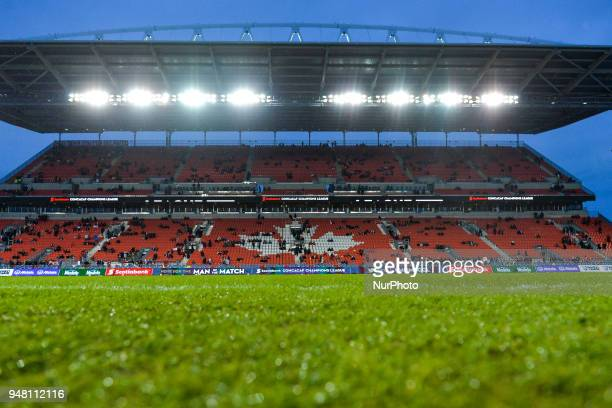 View at the BMO field during the 2018 CONCACAF Champions League Final match between Toronto FC and CD Chivas Guadalajara at BMO Field in Toronto...