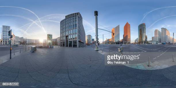 360° view at the busiest square in Berlin, Potsdamer Platz