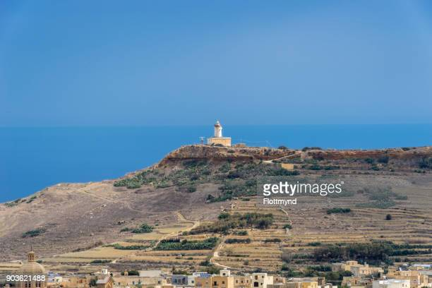 View at the Gordan lighthouse in Gozo