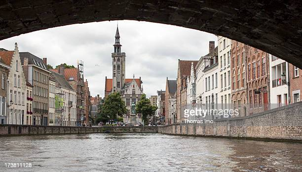 A view at the houses of Spiegelrei on June 30 2013 in Bruges Belgium