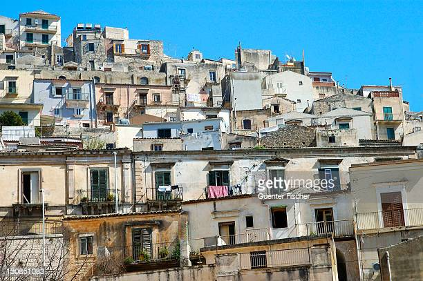 View at the old town of Modica Italy