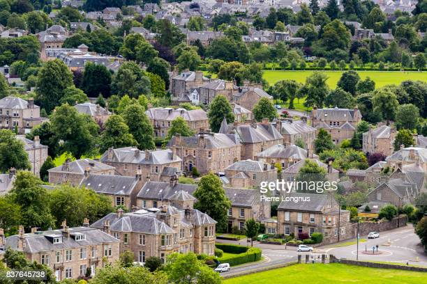 View at the roofs of Medieval Stirling from Stirling Castle - Scotland