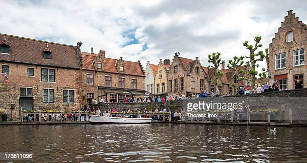 A view at the Rozenhoedkaai on June 30 2013 in Bruges Belgium