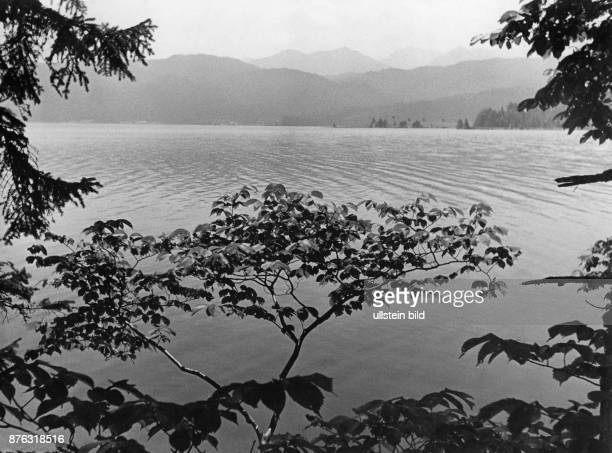View at the Walchensee the biggest lake in the German Alps Wolff Tritschler Vintage property of ullstein bild