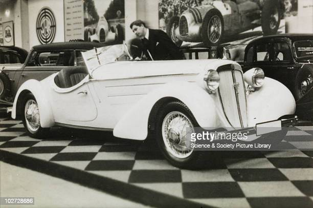 View Audi 'Front-Sport' car at Berlin Exhibition Photograph taken during Berlin Automobile Exhibition, 1935.
