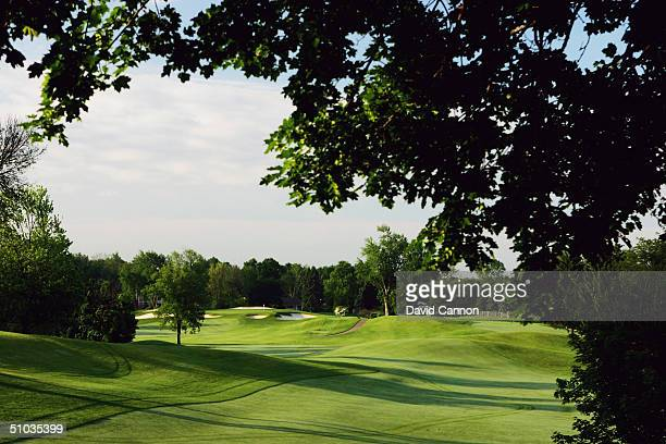 View back down the 11th fairway to the 17th green on the South Course at the Oakland Hills CC venue for the 2004 Ryder Cup Matches, on June 14, 2004...