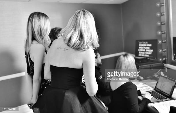 A view backstage at the Costume Designers Guild Awards at The Beverly Hilton Hotel on February 20 2018 in Beverly Hills California