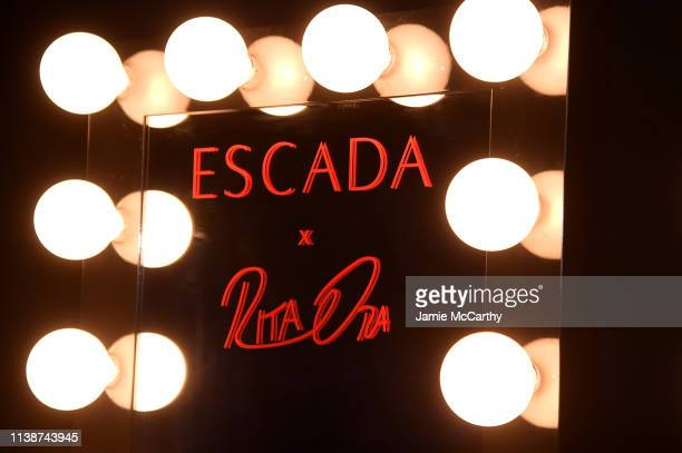 A view backstage at the launch of the ESCADA Heartbag by Rita Ora on March 27 2019 in New York City