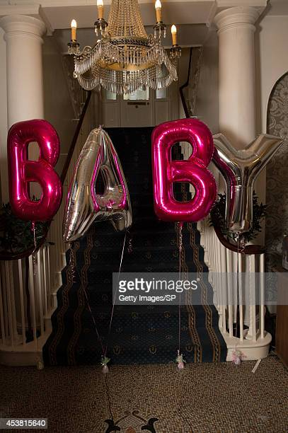 A view balloons spelling out the word 'BABY' at Sam Bailey's Baby Shower at The City Rooms on August 10 2014 in Leicester England