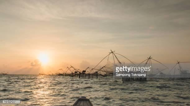 View Beautiful, Sunrise at Pak Pra lake,Pattalung,Thailand