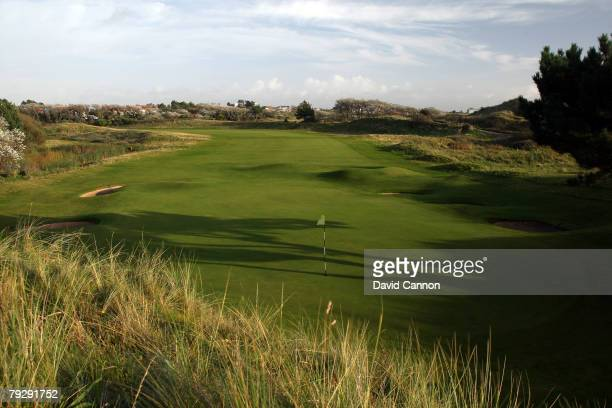 A view behind the green on the par 4 5th hole at Royal Birkdale Golf Club venue for the 2008 Open Championship on October 9 2007 in Southport England