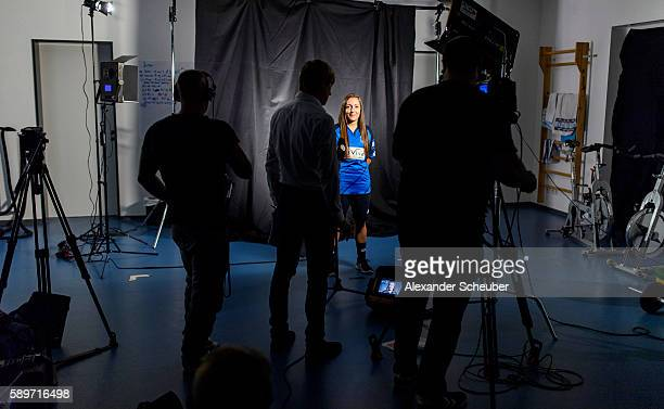 A view behind the scenes during the Allianz Women's Bundesliga Tour on August 15 2016 in StLeonRot Germany