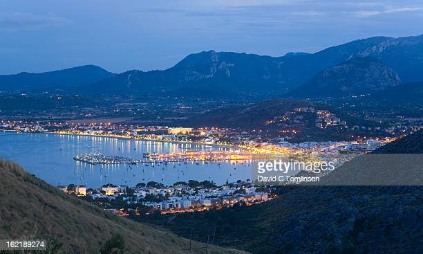 View by night, Port de Pollenca, Mallorca, Spain