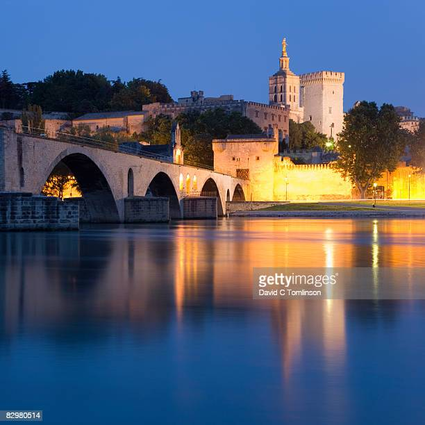 View by night to the Papal Palace, Avignon, France