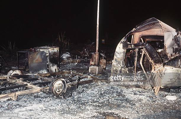 A view dated 12 July 1978 of a burnt out camping cars of Los Alfaques campsite devastated at 03 pm 11 July 1978 by a propane gas explosion after a...
