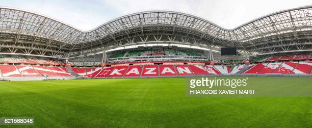View dated on October 4 2016 shows the Kazan Arena Stadium ahead of the World Cup 2018 football tournament / AFP PHOTO / Francois Xavier MARIT