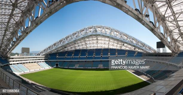 View dated on October 5 2016 shows at the Fisht Stadium Stadium in Sochi during construction works ahead of the World Cup 2018 football tournament...