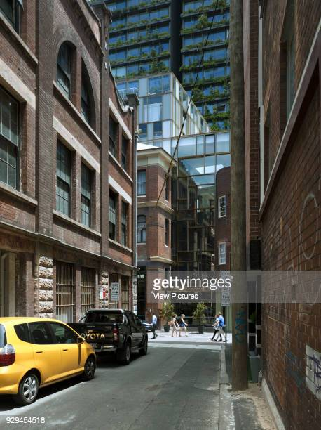 View down adjacent laneway to hotel entry The Old Clare Hotel Sydney Australia Architect Tonkin Zulaikha Greer 2015